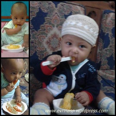 Melatihnya mandiri saat makan