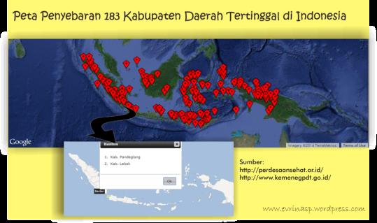 Peta penyebaran kabupaten daerah tertinggal
