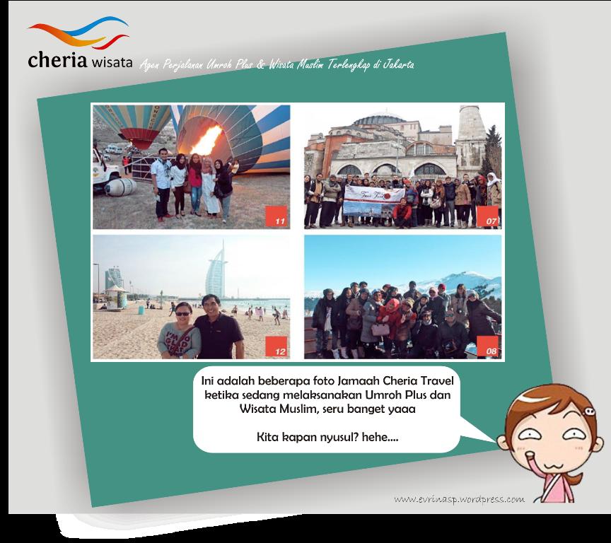 Jamaah Cheria Wisata ketika melaksanakan Umrah Plus, Sumber: http://www.cheria-travel.com/