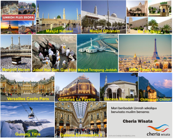 Umroh Plus Eropa Cheria Travel, Sumber: http://www.cheria-travel.com/